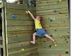 New backyard playground diy for kids climbing wall ideas Kids Rock Climbing, Diy Climbing Wall, Climbing Holds, Playground Design, Backyard Playground, Playground Ideas, Children Playground, Backyard Kids, Casa Kids