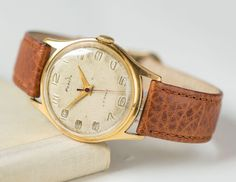 Classy men's watch Rocket  gold plated AU 20 men by 4Rooms on Etsy