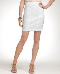 white pencil skirt - ann taylor