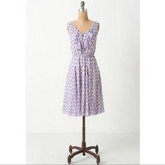 Anthropologie Meadow Rue Purple Kite Dress