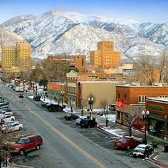 Ogden, Utah. looks like something out of a TV show. Probably because a few movies  and TV shows have been shot in Ogden.