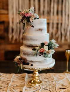 Wedding cakes have come a long way in recent years — transitioning from the traditional white, tiered cakes, to artistic + creative confections. The naked cake trend + geode cakes were definitely a hit last year and have continued to be a favorite in 2016; however, we're also seeing some new, more modern + sleek... #weddingcakes