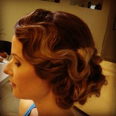 1920's inspired upstyle, gorgeous finger waves by Coastal Style Mobile Hairdressing.