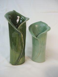 Handmade unfolding leaf vases - Michael MacDonald