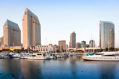 The Embarcadero Marina in downtown San Diego, California.