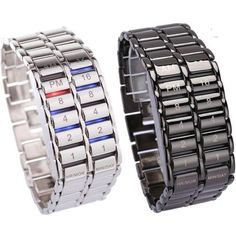 """New Fashion Digital Watch Cool Volcanic Lava Style Iron Faceless Binary LED Wrist Watches for Men Black / Silver"" Special Gifts For Him, Led Watch, Lava, Simple Bracelets, Silver Prices, Unisex, Cool Things To Buy, Stuff To Buy, Watches For Men"