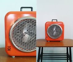 Vtg 70s Fan / Heater Retro Orange Made In Sweden By Elektrostandard Industrial Design Scandinavian 1970s Mid Century Home Decor on Etsy, $79.04