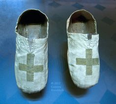 Pontifical Sandals /   Vestments of St. Thomas à Becket, Treasury of Sens Cathedral (12th Century)