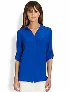 Diane von Furstenberg - Lorelei Silk Button-Front Blouse