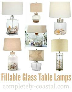 a fillable glass lamp gives you the opportunity to showcase your sea treasure collections and other small objects - Fillable Lamp