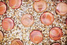 sweet as a peach buttons | Millie Holloman #wedding