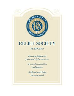 Purposes of Relief Society