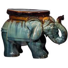 Ceramic Elephant Stool ($70) ❤ liked on Polyvore featuring home, outdoors, patio furniture, outdoor stools, garden furniture, outdoors patio furniture, outdoor garden furniture and outdoor garden stool