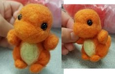 I'm learning how to make needle felt plushies. Here's a tiny Charmander (fire not included)