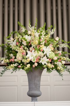 Large white and pink altar arrangement | by Dorothy McDaniel's Flower Market, Unplugged Photography