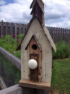 Reclaimed barnwood birdhouse with tin roof by TheSouthFields, $100.00