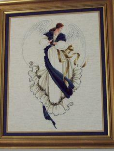 Cross Stitch Photo Album II: Photo of Lavendar and Lace Angel of Hope Design