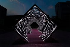 Accumulation: Dramatic LED Light Tunnel by Yang Minha | Inspiration Grid | Design Inspiration