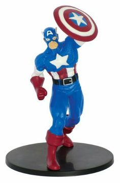 "Marvel Captain America 4"" PVC Figurine by Marvel. $7.56. Highly Detailed Sculpt. Made of PVC. Stands approx. 4"" in height. From the Manufacturer                Captain America 4"" PVC Figurine. The figurine is highly detailed. Captain America poses with his iconic shield. Great for any Captain America fan.                                    Product Description                Originally deemed unfit for service, Steve Rogers volunteers for the experimental Super Soldier Serum a..."