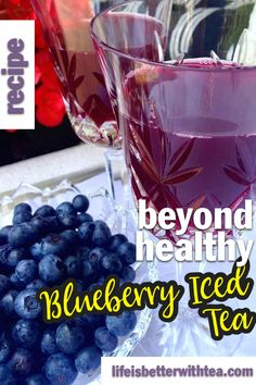Blueberry tea couldn't be any healthier or more refreshing then when it's iced. Blueberry tea is jam-packed with flavor and free radical fighting antioxidants. This post will show you how to make a deliciously healthy blueberry iced tea. Heart Healthy Recipes, Healthy Foods To Eat, Healthy Drinks, Easy Recipes, Healthy Lemonade, Iced Tea Recipes, Drink Recipes, Making Iced Tea, Tea Blog