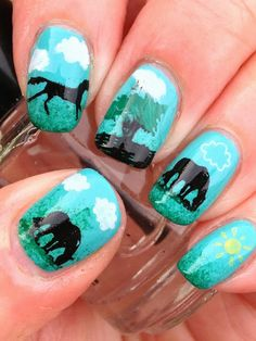 I would NEVER go to the trouble to do all of this, but I absolutely ADORE these nails!!!