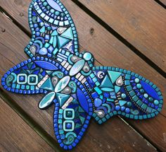Newest custom butterfly by Tina @ Wise Crackin' Mosaics