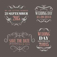 Wedding Labels Vector Template #design Download: http://graphicriver.net/item/wedding-labels/10456585?ref=ksioks
