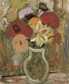 amare-habeo:  Gustave De Smet (1877-1943, Belgium) The vase of flowers (Vase de fleurs), 1941
