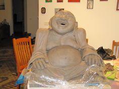 Buddha a work in progress Pottery Sculpture, Lion Sculpture, Buddha, Statue, Art, Art Background, Kunst, Performing Arts, Sculptures