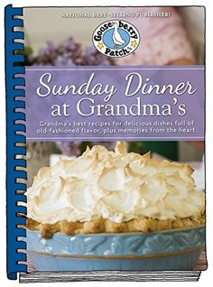 Holiday shopping is upon us. Did you venture out on Black Friday, or even Thanksgiving? Not me! But, it is Cyber Monday and have I got a deal for all of you. I have been cooking out of Gooseberry Patch's latest cookbook, Sunday Dinner at Grandma's and I have one to giveaway to one lucky reader!