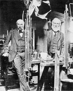 Lord Rayleigh (left) and Lord Kelvin