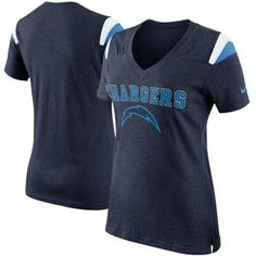 Nike San Diego Chargers Ladies Fan V-Neck T-Shirt - Navy Blue