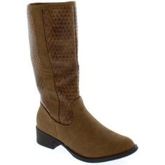 Shoes of Soul Women's Weave Pattern Boot, Size: 8, Brown