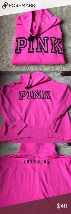 Victoria Secret Sweatshirt This is a pink owl necklace sweatshirt! Excellent condition! PINK Victoria's Secret Tops Sweatshirts & Hoodies