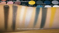 MUFE Artist Shadow Eyeshadow Swatches 1 Row 2http://musicalhouses.blogspot.com/2014/10/mufe-artist-shadow-swatches-part-1-of-2.html