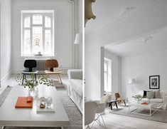 A serene white Malmö apartment   It was a while ago that I showed a completely white apartment. White floors, walls and ceilings maybe, but not everything bar a plant or a chair he... Uncategorized Check more at http://rusticnordic.com/a-serene-white-malmo-apartment/
