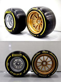 "Pirelli's new 18"" concept tyre versus the current 13"""