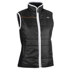 KJUS Aurelia Vest - Insulated (For Women) in Black White Outdoor Fashion 253de7e2b