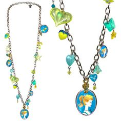 "BARBIE® ""CHARM SCHOOL"" LONG NECKLACE - Collaborations - TARINA TARANTINO"