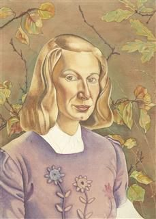 Self-portrait.(with.leaves),1945,Rita.Angus