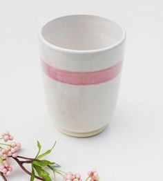 Pink Striped Ceramic