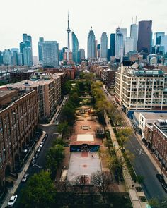 Shot of Toronto's downtown core. The CN Tower is the tallest structure. Toronto Street, Toronto City, Toronto Travel, Downtown Toronto, City Aesthetic, Travel Aesthetic, Travel Around The World, Around The Worlds, Toronto Ontario Canada