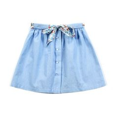 lucy skirt: chambray with floral trim @ Anais & I