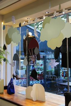 Autumn Window Display by Virginie Montagnon at the Natasha Coote Boutique