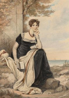 Henry Edridge | Portrait of a Lady Seated by the Sea | 1814 | The Morgan Library & Museum