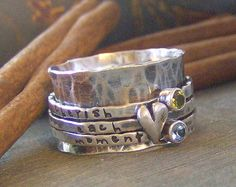 Personalized stacking rings...hand stamped fine by cinnamonsticks