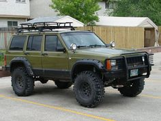 Here's a 1996 Jeep Cherokee with fender flares that really add to the tough look. Description from pinterest.com. I searched for this on bing.com/images