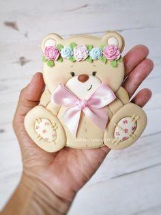Teddy Bear Cookies, Fancy Cookies, Baby Shower Cookies, Sugar Art, Cake Art, Biscuits, Instagram, Decorated Cookies, Pies