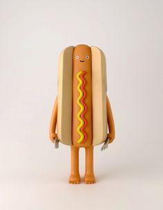A Hotdog art toy