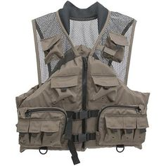 Master Sportsman Fishing Life Vest, Taupe